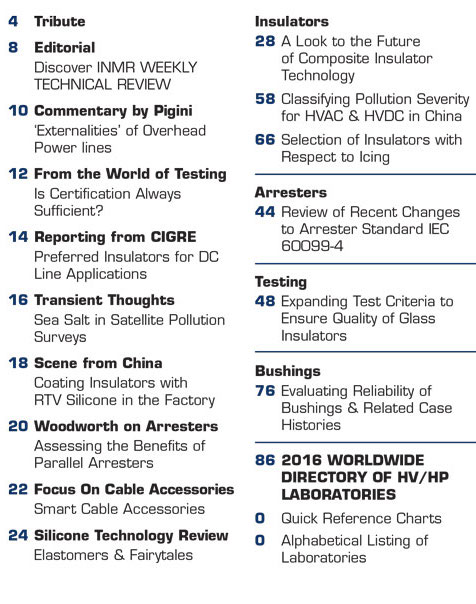INMR Issue 111 Table of Contents  Issue 111 Preview Page NO Advertisers